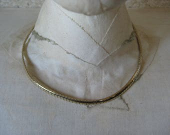 Omega Gold Sterling Necklace Chain Choker Vintage 925 Vermeil Milor Italy (has a kink)