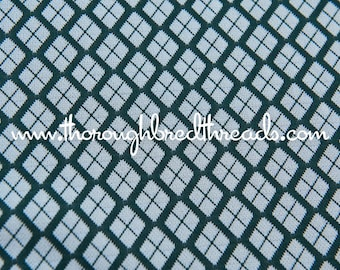 Mod Geometric - New Old Stock Vintage Fabric 60s 70s Dark Green
