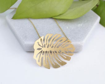 Monstera Leaf Necklace | ATL-N-169