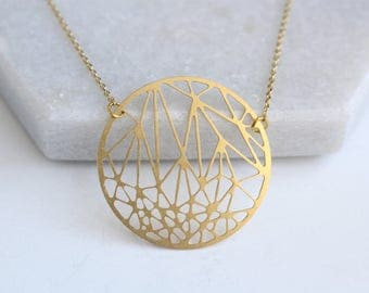 Circle Geometric Necklace | ATL-N-186