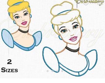 Cinderella head applique shirt