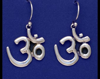 OM- Earrings- Sterling Silver