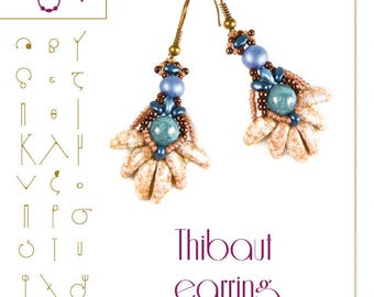 Beading tutorial / pattern Thibaut earring. Beading instruction in PDF – for personal use only