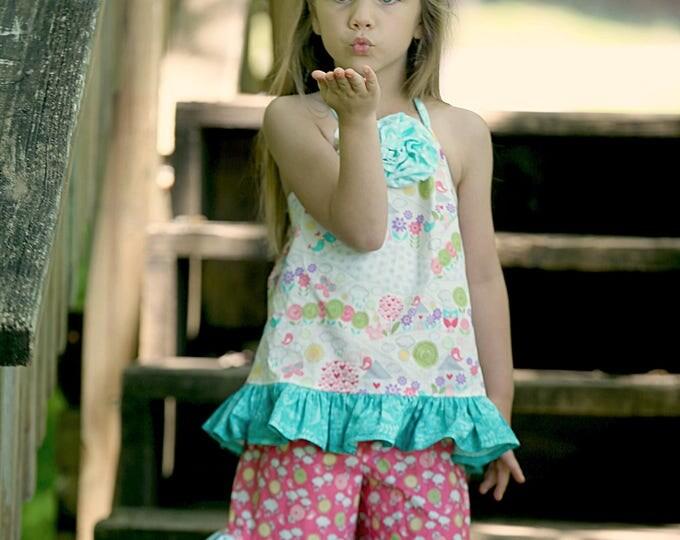 Girls Summer Shorts Set - Ruffle Shorts - Girls Shorts Set - Toddler Shorts Set - Birthday Outfit - Birthday Party - sizes 6 months to 4T