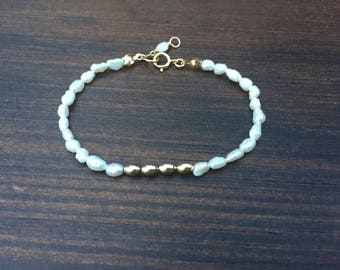 Bridesmaid gift, Sterling silver Bracelet, Freshwater Pearl bracelet, Pearl Bracelet, Bridal bracelet, Wedding jewelry
