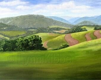 Pennsylvania Hills, original oil painting