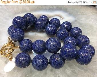 50% Mega Sale Lapis Lazuli Gemstone Necklace