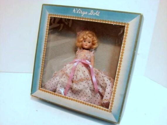 Vintage Virga Cinderella Doll in Box, Beehler Arts Storybook Doll