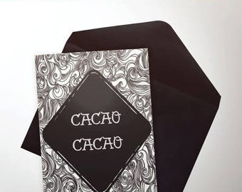 Cacao Cacao card - custom inside - portlandia - funny - portland - hipster