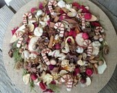 Candy Cane Lane Country Potpourri, Christmas Potpourri, Winter Potpourri, Room Scent, Stripes, Red, White, Refresher Oil Included