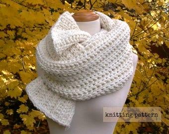 fisherman's daughter scarf easy knitting pattern . chunky knit scarf pattern . lazy fisherman rib scarf pattern . blanket scarf knit pattern