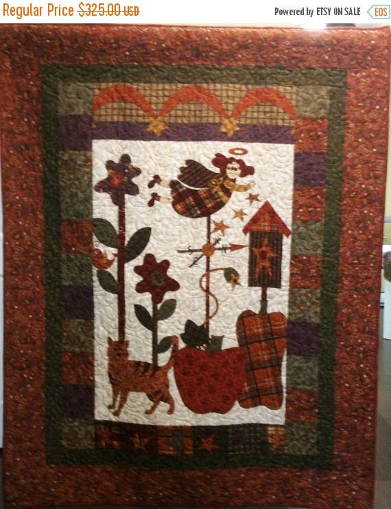 Summer sale I Believe in Country Angels Art Quilt