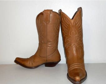 Bottes de femmes 9,5 M mode Western Cowboy Cowgirl Nine West chaussures Vintage en cuir