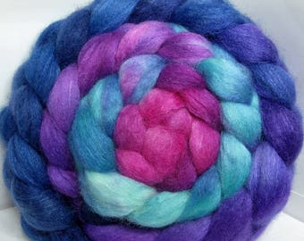 BFL/Cashmere/Tussah 50/25/25 Roving Combed Top - 5oz - Thorn Berry 2