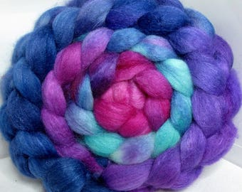 BFL/Cashmere/Tussah 50/25/25 Roving Combed Top - 5oz - Thorn Berry 1