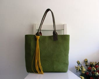 Green Tote / Shoulder Bag
