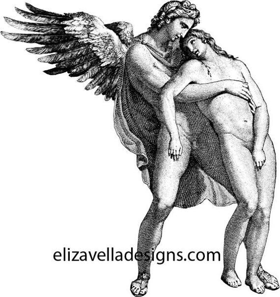 nude male guardian angel man clipart png Digital art Download digital images printable art digital stamp graphics christian religious