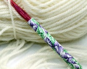 CUSTOM order for Linda - Polymer clay crochet hook, new size I9 or 5.50mm, Susan Bates, handmade design, ready to ship