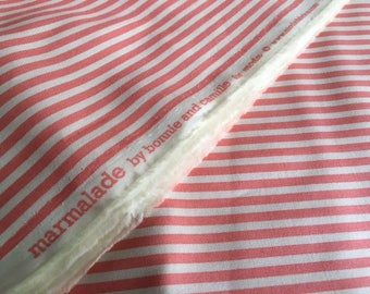 Sale.  Marmalade  stripe in pink and white by Bonnie and Camille for Moda