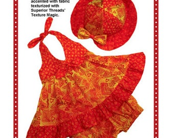 Toddler Sundress Pattern, Little Miss Sunshine by Patterns by Annie size 6 months to 1 year