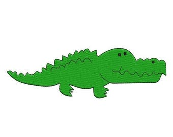 SALE 65% OFF Alligator Crocodile Filled Machine Embroidery Design 4x4 and 5x7 Instant Download