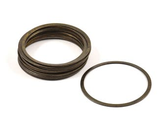 Brass Connector Ring, 50 Antique Brass Connector Rings  (31mm) K036