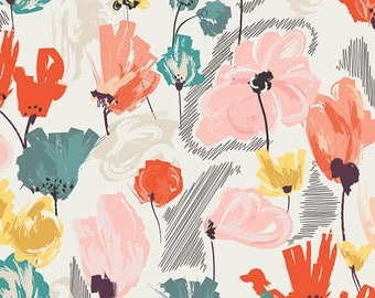 Art Gallery Fabrics Rapture Wild Beauty Saffron by Pat Bravo - RPT2702