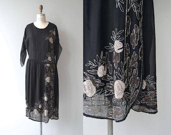 Wandering Star dress   vintage 1920s dress   silk beaded 20s dress