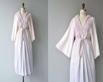 Strange Magic dress | vintage 1970s gauze dress | cotton gauze 70s caftan dress