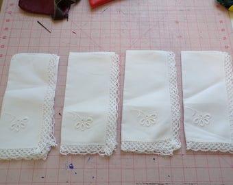 Vintage, Set of 4 Napkins