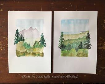 Orginal Landscape Photo Watercolor