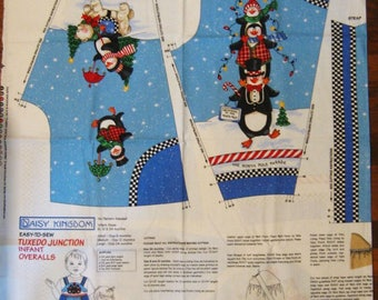Daisy Kingdom Tuxedo Junction Infant Overalls - Cotton Fabric - # 1703
