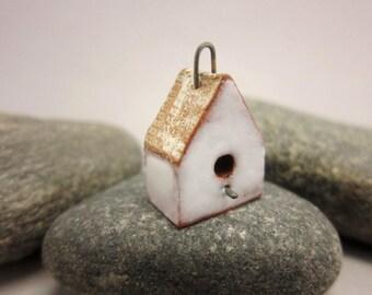 BirdHouse Pendant...White Walls / Eggshell Roof