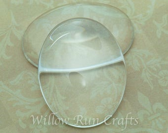 5 Pack 30 x 40mm Oval Glass Cabochons  (09-11-750)