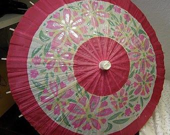 christmasinjuly Vintage Paper Parasol  Decoration Made in Japan