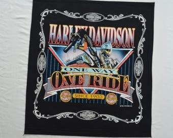 Vintage HARLEY DAVIDSON bandana 1992 HOLOUBEK usa made