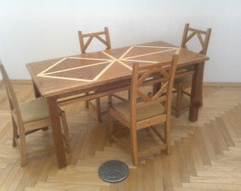 Miniature Table and Chairs Set