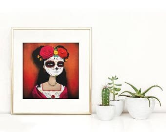 10% Off - Summer SALE Catrina  - Deluxe Edition Print
