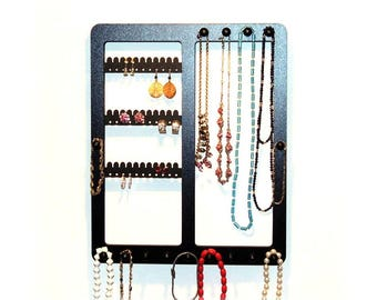 Earring holder,  jewelry display, Wooden, earring rack, necklace rack,  earring organizer, rack with pegs, jewelsry storage