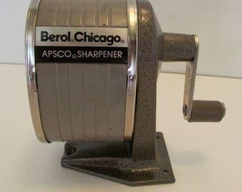 Industrial Pencil sharpenerApsco Berol Chicago Standard Sizes Crank pencil sharpener