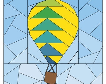 Hot Air Balloon Paper Piecing Pattern - Rise Above Add-on: Flying Geese  - Quilt Pattern - #260 PDF