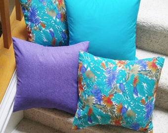 Tropical Pillow Covers,Set of 4 Pillow Covers 16x16, Indoor Outdoor Pillow Covers,Summer Pillow Covers,Decorative Pillows, Patio Decor