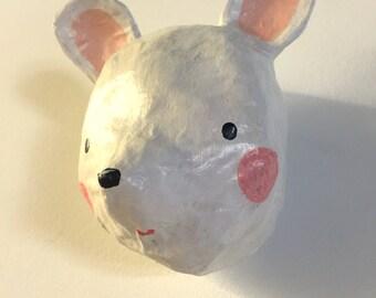 Mouse Face! Paper mâché sculpture