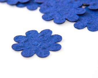 200 Royal Blue Plantable Seed Paper Flowers Wedding Favor Bridal Shower Favor Baby Shower Favor DIY Invitations Eco Party Favor Decorations