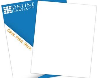 """Waterproof Sticker Paper (100 Sheets), White Matte (INKJET ONLY) - 8.5"""" X 11"""""""