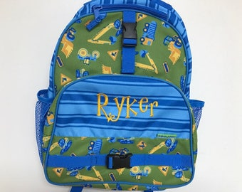 Personalized Stephen Joseph All Over Construction Print Backpack