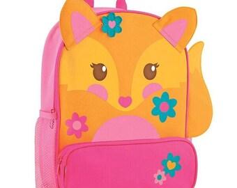 Personalized Stephen Joseph Sidekicks Fox Backpack