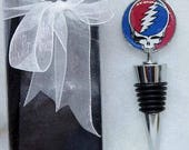 Classic Rock Gifts, Grateful Dead Wine Cork That Gives to Charity, Steal Your Face Gift, GD Wine Stopper Ready to Ship Comes in a Box