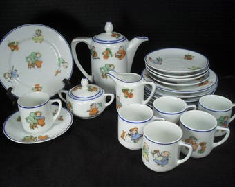 Happifats Children's Tea or Coffee Set - Complete Service for 6 - 23 Pieces
