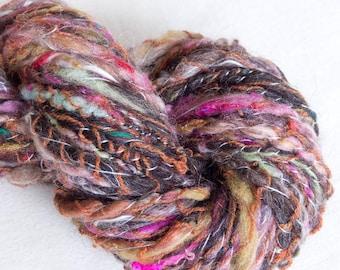 Hand spun yarn, Art yarn, Textured yarn, Knitting, Crochet, Dreadlocks, Cowl, Tapestry, Embellishment, fibre art